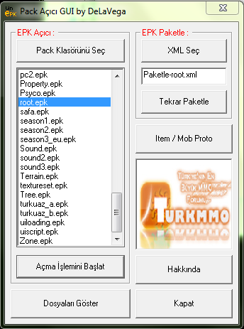 Metin2 Yeni Pvp Server Pack Açma Programı