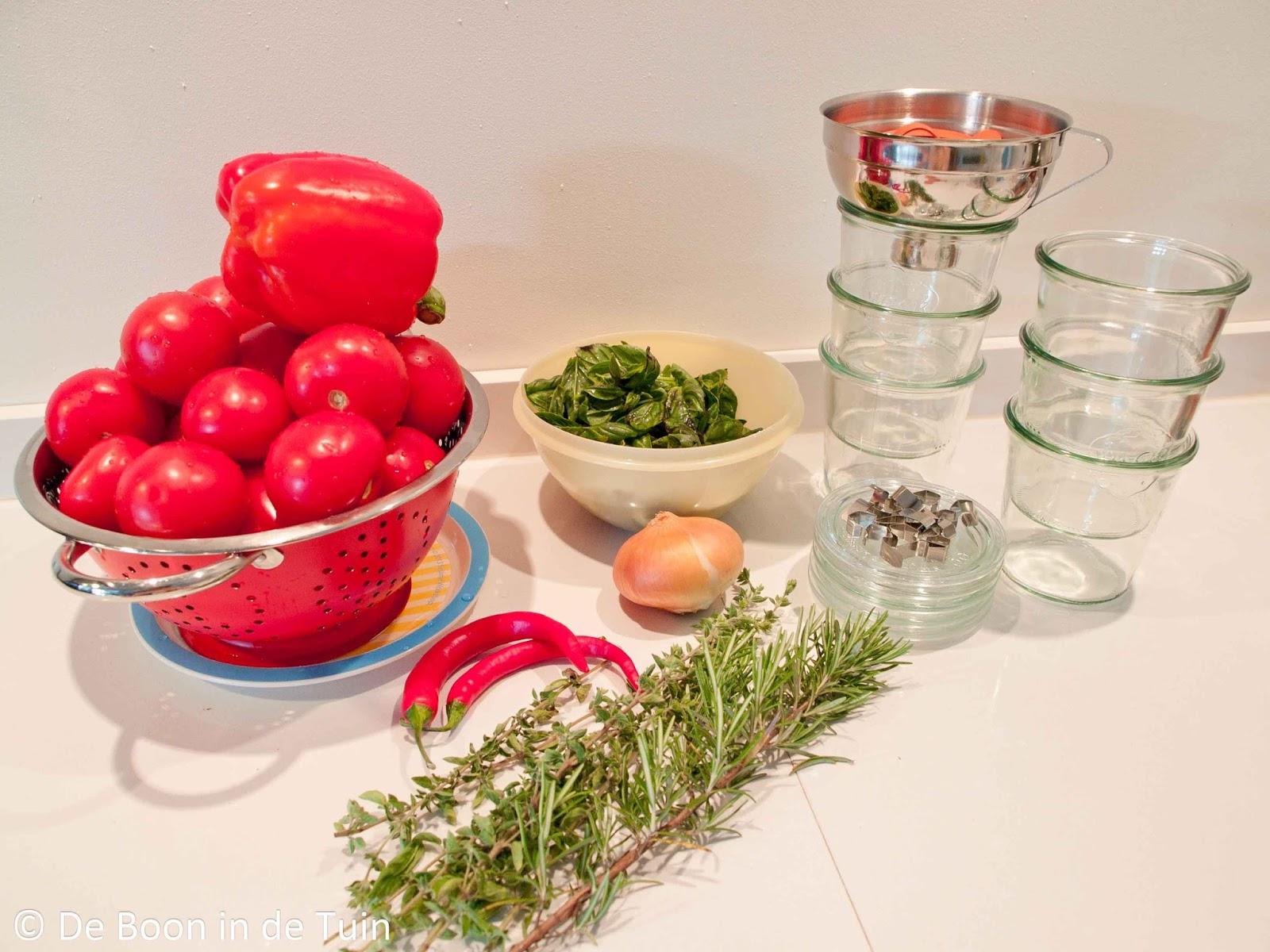 recept zelf tomatensaus maken pastasaus