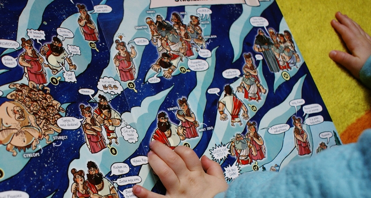 Mity greckie dla dzieci w obrazkach