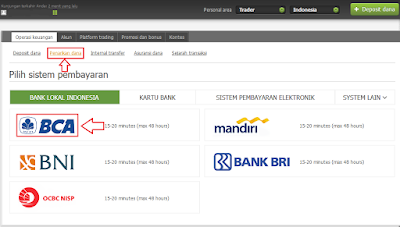 withdrawal di fbs via bank bca