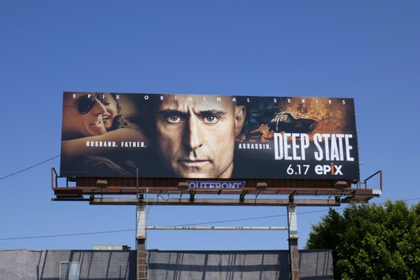 Deep State series premiere billboard