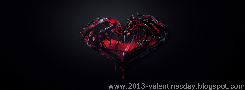 Valentines Day Black Facebook Timeline Cover Pictures 2013