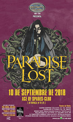 Poster Concierto de PARADISE LOST en Bogotá