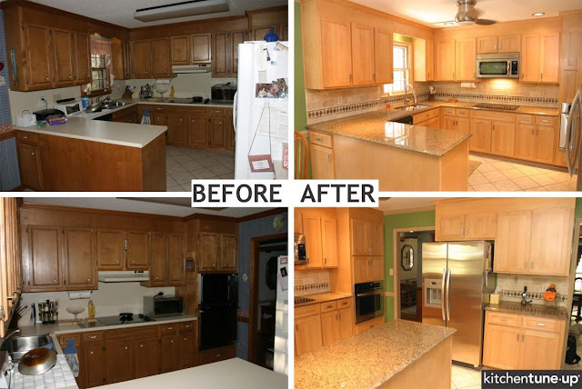 U Shaped Kitchen Remodel Before And After Home Interior Exterior Decor Design Ideas