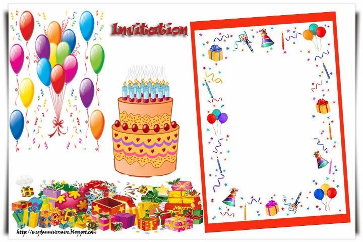 Souvent Carte D Invitation Anniversaire Enfant. monde des petits par th me  RI34