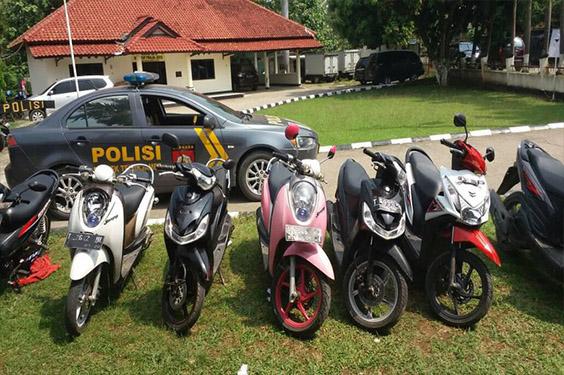 5 Pencuri Motor Khusus Warnet Berhasil di Ciduk Polisi