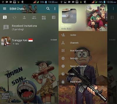 BBM Mod Doraemon GTA V3.2.3.11 Apk