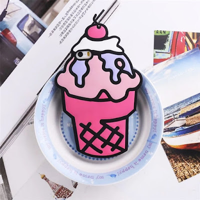 ice cream iphone cover pink