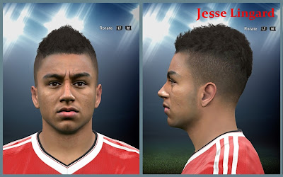 PES 2016 Jesse Lingard Face by Mo Ha