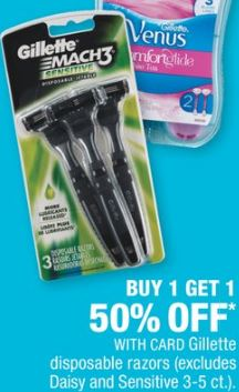Gillette, Venus Disposable Razor OR Shave