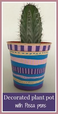 Posca Pastels pens for decorating flower pots craft