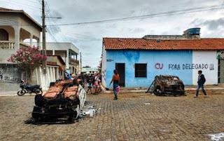 protesto contra delegado na Bahia