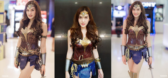 cosplayer wonder woman thailand ladyboy