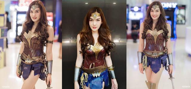 cosplayer wonder woman thailand ladyboy