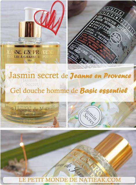 Jasmin Secret de Jeanne en Provence et la gamme homme Basic Essentiel
