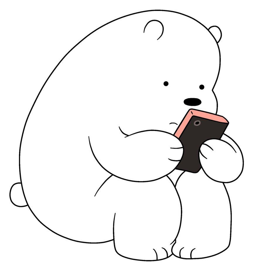 Gambar Kartun Lucu 💕💕 Gambar Kartun Ice Bear Sedih