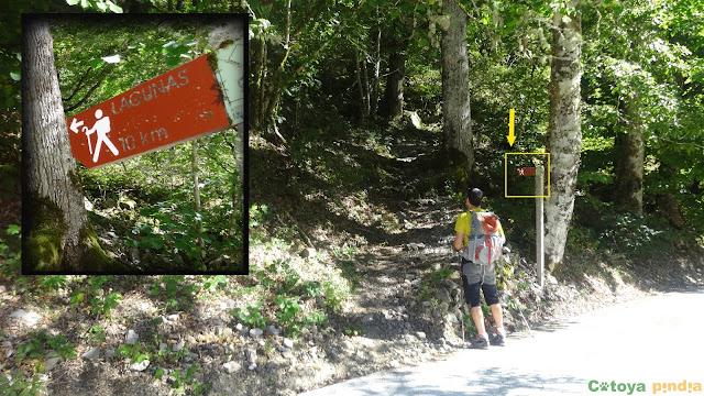Inicio de la ruta larga al Bosque de Muniellos