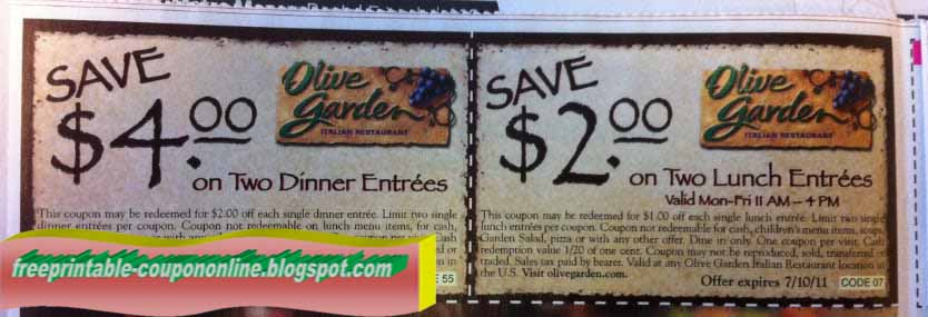 Olive garden coupons printable august 2018