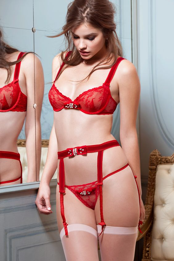 Victorias Secret #Red #Velvet #Lingerie