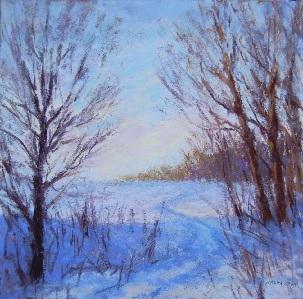 Kathleen kalinowski artist new winter paintings - How warm does it have to be to paint outside ...