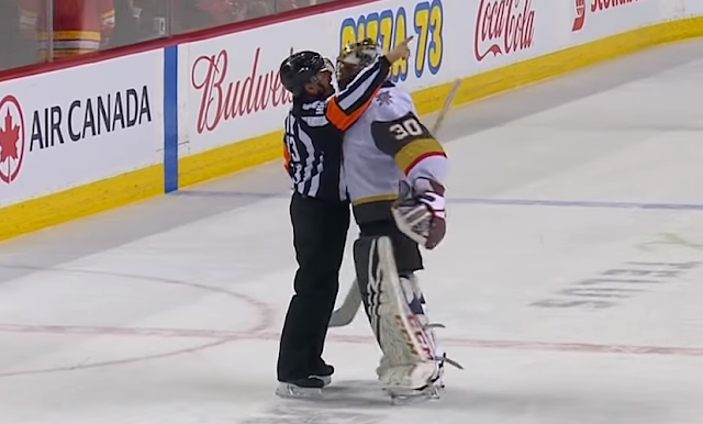 Malcolm Subban gets in referees face