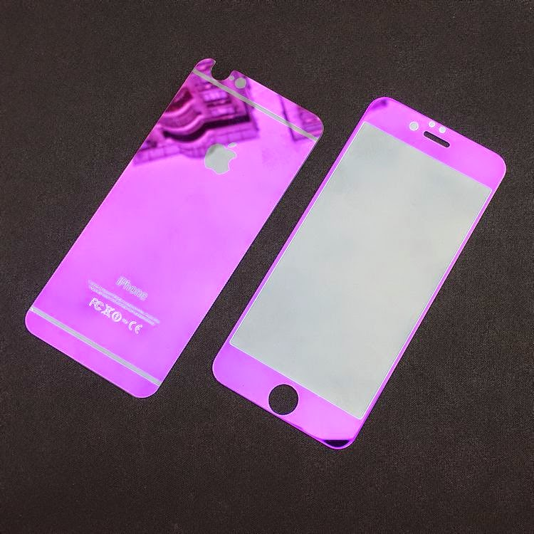 Plated Color Tempered Glass For IPhone 6 6s
