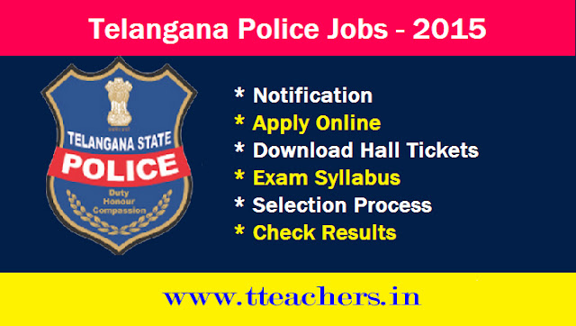 TS SI Police Constable Posts 2015 Recruitment Notification Telangana Go 156
