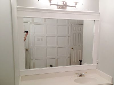 Engineering life and style framing contractor grade mirrors - Stick on frames for bathroom mirrors ...