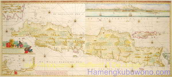 gambar peta jawa kunoInsulae Iavae pars Ocidentalis Edente Hadriano Relando en Insulae Iavae pars Orientalis Edente Hadriano Relando Karya Gerard van Keulen