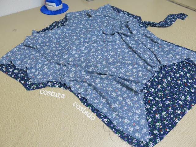 blusa fresca con manga caída proceso de confección