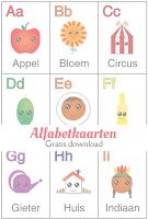Alfabetkaarten - gratis download