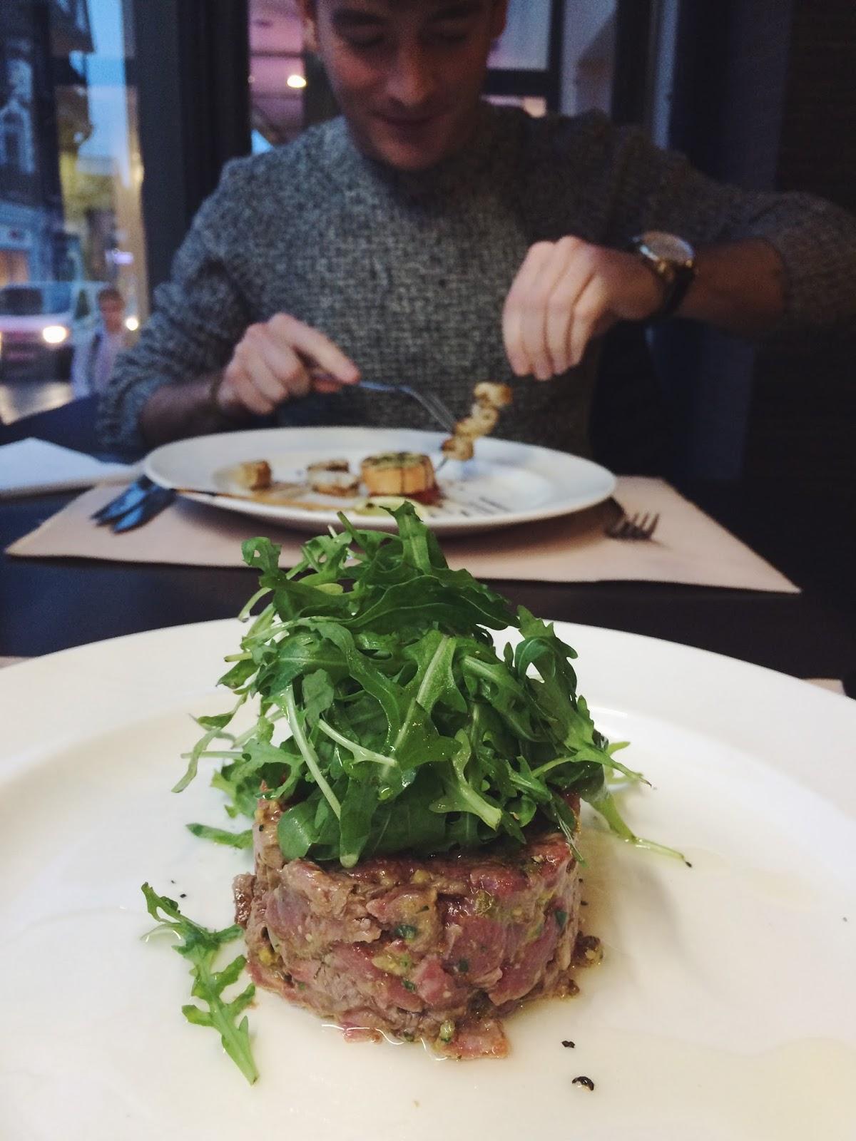 Steak tartar, Porterhouse Steakhouse Winchester review, UK food bloggers, UK food blog, Dalry Rose Blog