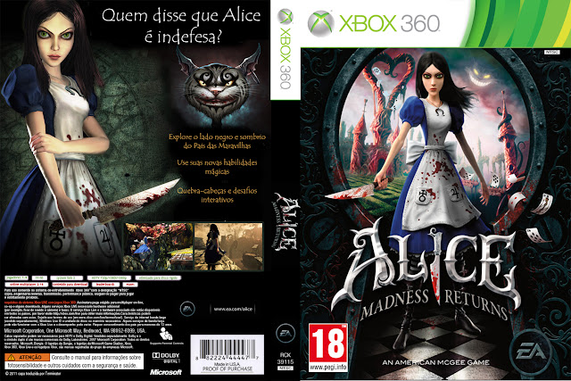 Capa xBox360 Alice Madness Returns