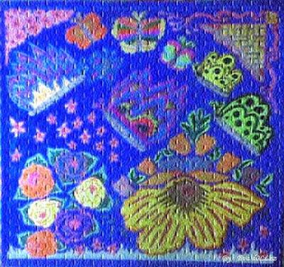 Blue image, Colorful Draws - Gambar Penuh Warna