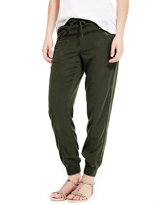 Marks and Spencer Tencel Tapered Leg Trousers