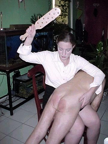 women spanking men paddle