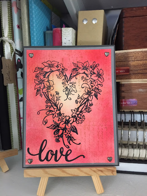 Inked Inspirations: Distress Ink Love Card