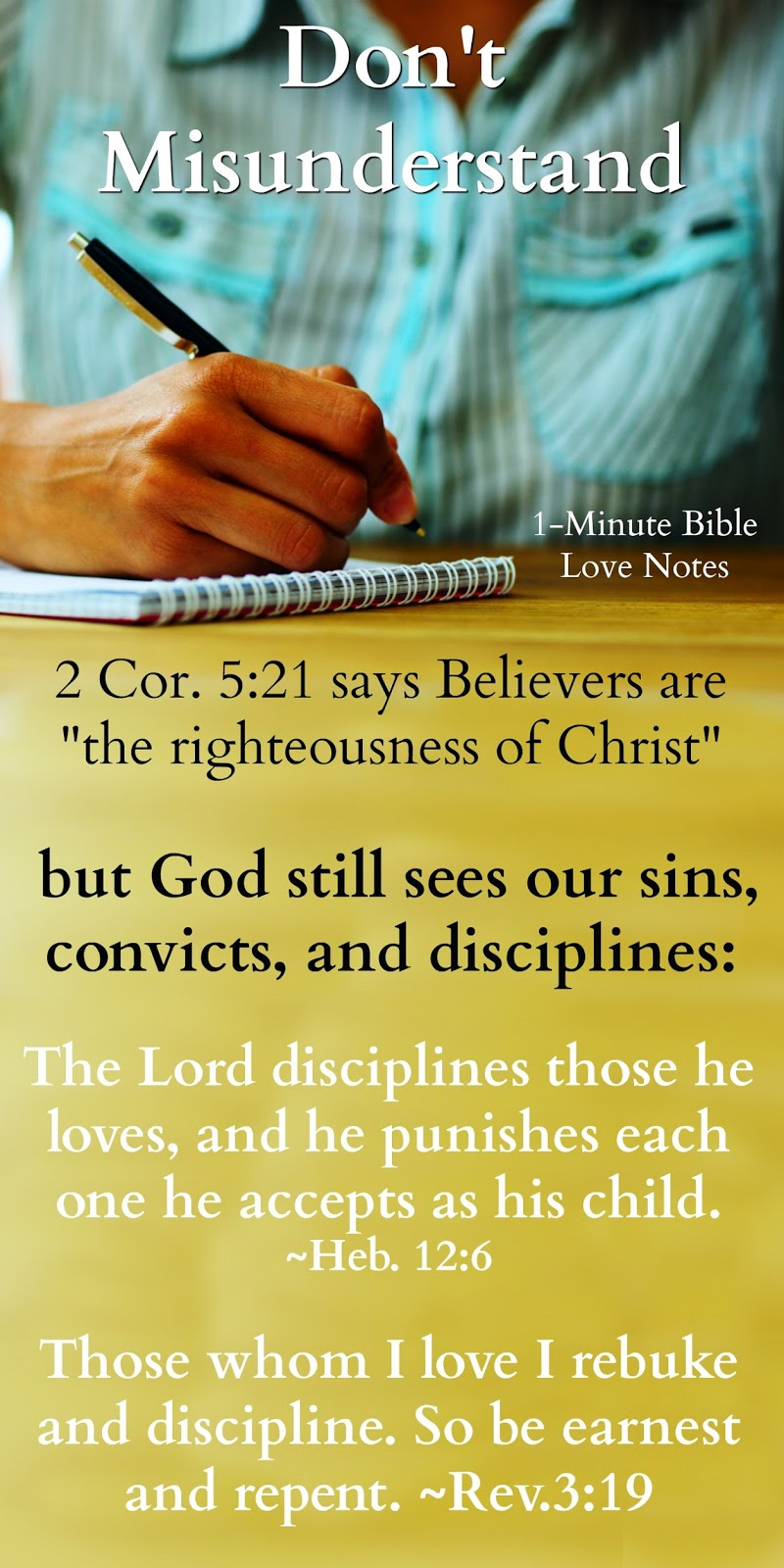 Bite Size Bible Study When God Looks At You, He Sees You, Sins ...