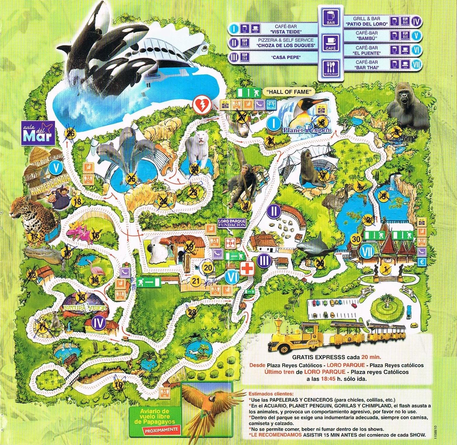 mapa parque monsanto Vai e Vem: Mapa do Loro Park mapa parque monsanto