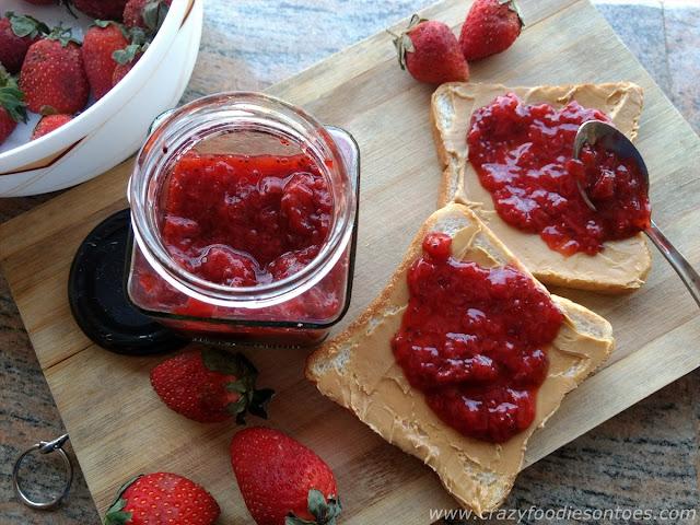 Homemade Strawberry & Chia Seeds Jam Recipe