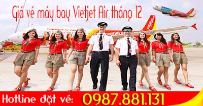giá vé máy bay hãng Vietjet Air tháng 12 mới nhất