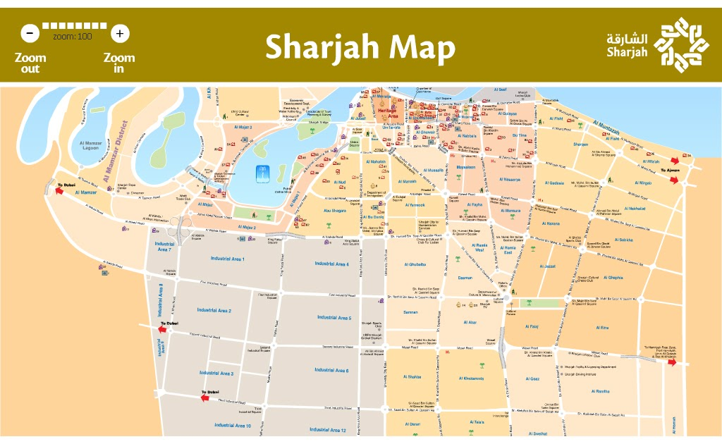 Sharjah Interactive Map Smile You are in Sharjah