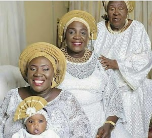 4 Generations: Great Grand Mother, Grand Mother, Mother & Daughter.