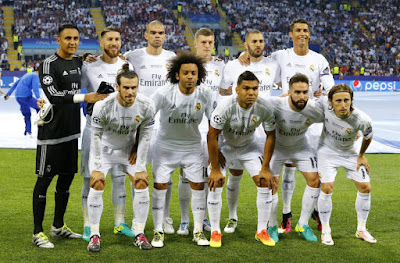 Real Madrid Champions League winners team photo