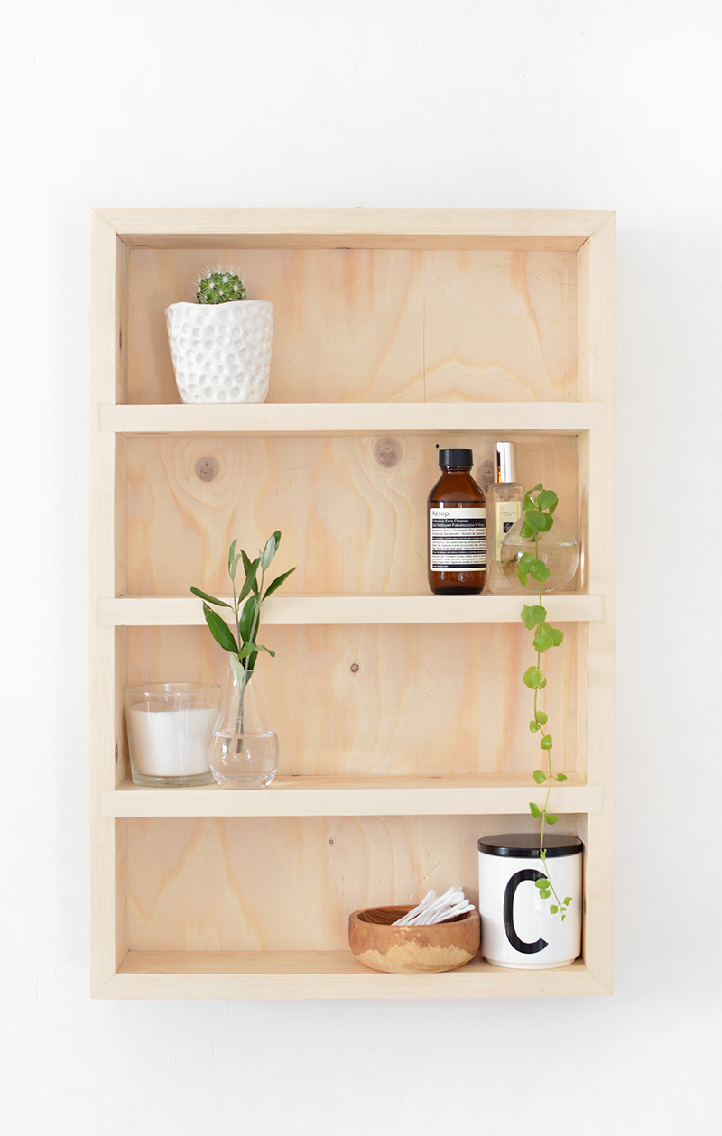 DIY bathroom storage shelf | BURKATRON