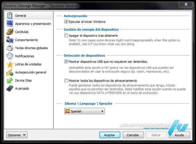 Zentimo xStorage Manager Español Versión 2.1 - Gestor de dispositivos USB