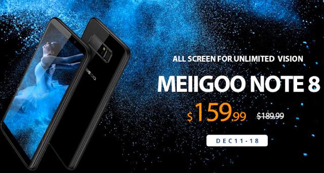 هاتف MEIIGOO NOTE 8 بمواصفات رائعة وسعر مناسب !!