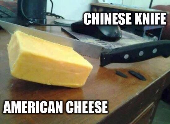 chinese knife vs american cheese