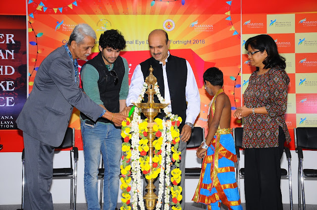Mr. Krishna, Diganth, Dr. K. Bhujang SHetty, Mrs. Maya Lighting Lamp