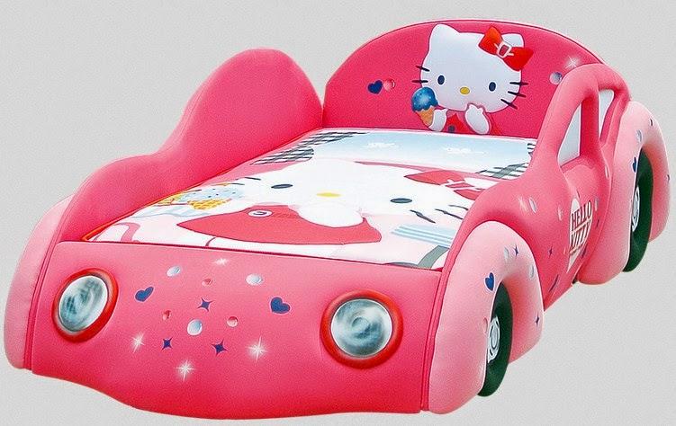 Tempat Tidur Hello Kitty model mobil